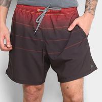 Short Redley Elástico Sports Listras Masculino - Masculino-Vermelho+Preto