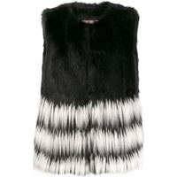 Twin-Set Long Faux-Fur Gilet - Preto