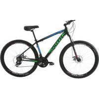Mountain Bike South Bike Legend 2018 - Aro 29 - Freio A Disco Mecânico - Câmbio Shimano - 21 Marchas - Preto/Azul