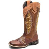 Bota Top Franca Shoes Texana Caramelo