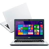 "Notebook Acer Aspire E5-473-370Z - Intel Core I3-5015U - Ram 4Gb - Tela 14"" - Hd 1Tb - Branco - Windows 10"