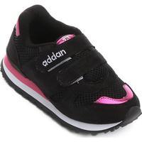 Tênis Infantil Addan Velcro - Masculino-Preto+Pink
