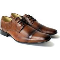 Sapato Social Confort Zanuetto Liso Masculino - Masculino-Marrom