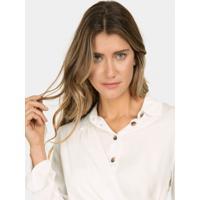 Camisa Manga Longa Amarração Branco Off White - Lez A Lez