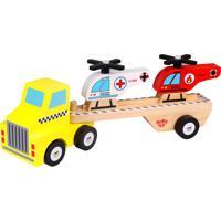 Caminhão Tooky Toy Helicópteros Madeira