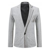Blazer Masculino Slim Basic - Cinza Claro