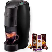 Máquina De Café Espresso Tres Lov Preto Fosco 127V Grátis 3 Caixas De