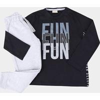 Conjunto Infantil Milon Fun Masculino - Masculino-Preto