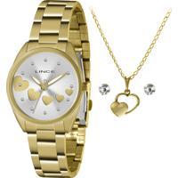 Relógio Lince Feminino Com Colar E Brincos Lrgh156Lkz70S1Kx