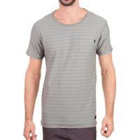 Camiseta Oakley Cold Striped Masculina - Masculino-Cinza