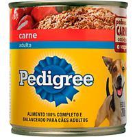 Ração Para Cães Pedigree Adultos Lata Sabor Carne Com 280G