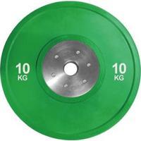 Anilha Olímpica Bumper Plate Para Musculação 10Kg Wct Fitness - Unissex