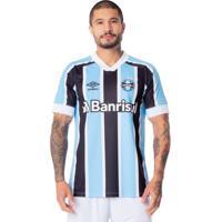 Camisa Masculina Umbro Grêmio Oficial 1 2021 S/N Azul Celeste/Preto - P