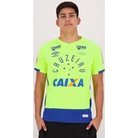 Camisa Umbro Cruzeiro Goleiro 2016 Fábio Com Patrocínio Masculina - Masculino