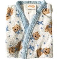 Roupão Infantil Mini Urso Algodão Pp Azul