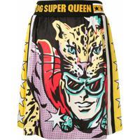 Dolce & Gabbana Saia Super Heroines - Estampado