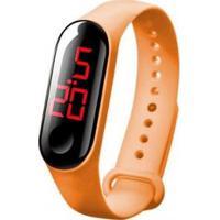 Relógio Orizom Infantil Led Bracelete Rdl82 Masculino - Masculino-Laranja