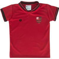 Kit De Uniforme De Futebol Do Flamengo Com Calção E Camisa Torcida Baby - Infantil - Vermelho/Preto