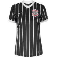 Camisa Do Corinthians Ii 2020 Nike - Feminina - Preto/Branco