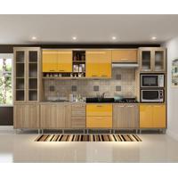 Cozinha Compacta Marianna 17 Pt 5 Gv Argila E Amarelo