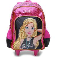 Mochila Escolar Luxcel Barbie C/ Rodinha Feminina - Feminino