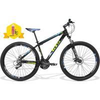 Bicicleta Gts M1 Taurus Aro 29 Freio Disco Câmbio Shimano 21 Marchas Amortecedor Com Trava + Brinde - Unissex