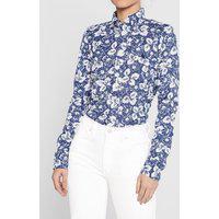 Camisa Polo Ralph Lauren Floral Azul-Marinho