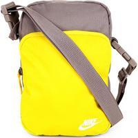 Bolsa Nike Heritage Smit 2.0 - Unissex-Amarelo+Cinza