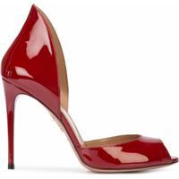 Aquazzura Sapato De Couro Envernizado - Vermelho