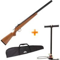 Carabina Espingarda De Pressão Pcp M30 Firewood 5.5Mm Artemis + Bomba Manual + Capa - Unissex