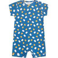 Macacão Infantil Kamylus Banho De Sol Romper Bebê - Masculino-Azul