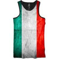 Regata Bsc Bandeira Itália Sublimada Masculina - Masculino-Branco