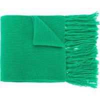 Ami Cachecol Canelado De Lã Merino - Verde