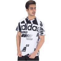 Camiseta Adidas Daily Aop Moto - Masculina - Branco/Preto