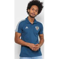 Netshoes  Camisa Polo Rússia Adidas 3S Masculina - Masculino abed5cce82faf