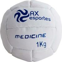 Bola Medicine Ball 1 Kg Ax Esportes Costurada - 530091 - Unissex