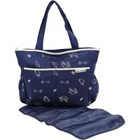 Bolsa Maternidade Jacki Design Mama & Me Feminina - Feminino-Azul+Bege