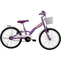 Bicicleta Dalannio Bike Feminina Aro 20 Fashion Com Cestinha Violeta