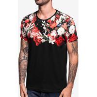 Camiseta Flowers Preta 103766