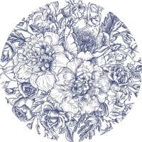 Jogo Americano Bendita Feitura Floral Azul Em Ps