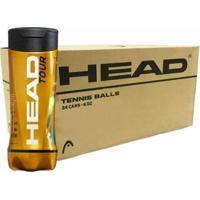 Bola De Tênis Head Tour - Caixa Com 24 Tubos - Unissex