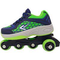 Tênis Box Kids Patins 4 Em 1 - Azul Marinho E Verde