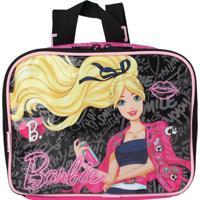 Lancheira Infantil Barbie Rosa Sestini