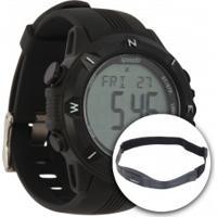Monitor Cardíaco Speedo 58009G0 Com Cinta De Transmissão - Preto
