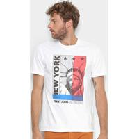 Camiseta Tommy Jeans New York Masculina - Masculino-Branco