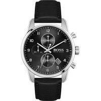 Relógio Hugo Boss Masculino Couro Preto - 1513782