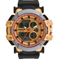 Relógio Speedo 81108G0Evnp1 Preto/Dourado