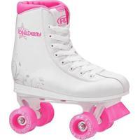 Patins Roller Derby Roller Star 350 - Feminino-Branco+Pink