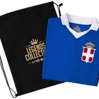 Camisa Itália Retrô Legends Collection + Sacola Masculina - Masculino-Azul