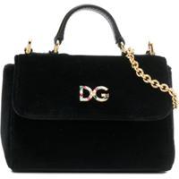 Dolce & Gabbana Kids Bolsa Tote Com Aplicação De Logo - Preto